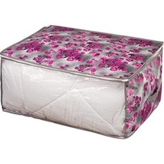 Кофр Handy Home для хранения Роза, Д600 Ш450 В300, розово-серый