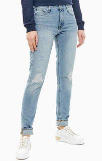Зауженные джинсы с рваными деталями CKJ 021 Calvin Klein