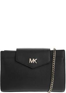 Маленькая черная сумка из зерненой кожи Crossbodies Michael Kors