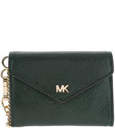 Кожаный кошелек с дополнительной визитницей Michael Kors