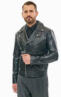 Кожаная куртка косуха с карманами Calvin Klein