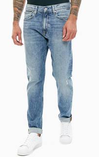 Зауженные джинсы с потертостями CKJ 056 Calvin Klein