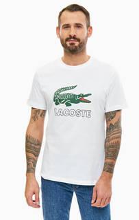 Хлопковая футболка с логотипом бренда Lacoste