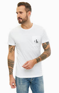 Хлопковая футболка с карманом Calvin Klein