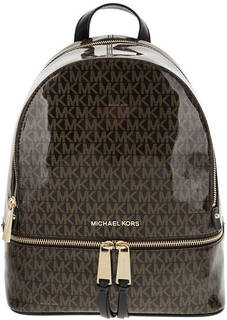 Городской рюкзак с монограммой бренда Rhea Zip Michael Kors