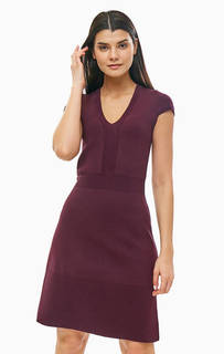 Трикотажное платье с расклешенной юбкой Michael Kors