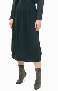 Черная юбка из вискозы Calvin Klein