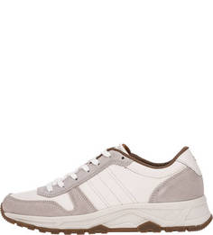 Кожаные кроссовки с замшевыми вставками Tommy Hilfiger