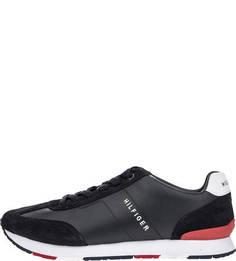 Темно-синие кроссовки с замшевыми вставками Tommy Hilfiger