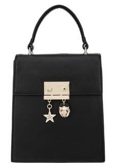 Сумка-рюкзак черного цвета с откидным клапаном Tosca Blu