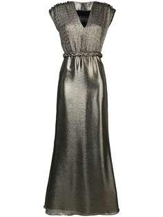Max Mara вечернее платье с эффектом металлик