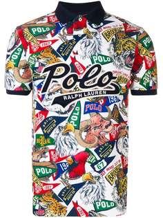 Polo Ralph Lauren рубашка-поло с принтом логотипа