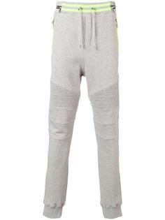 Balmain спортивные брюки в байкерском стиле