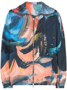 Alexander McQueen куртка с капюшоном и принтом мазков краски