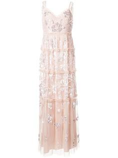 Needle & Thread платье с вышивкой пайетками