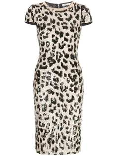 Alice+Olivia leopard sequin dress