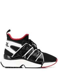 Karl Lagerfeld кроссовки со вставками