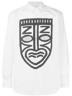 Comme Des Garçons Shirt рубашка с принтом маски и прорезями