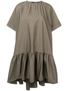 Rochas платье с короткими рукавами и сборками