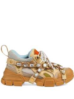 Gucci кроссовки Flashtrek со съемными кристаллами