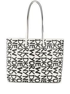DKNY lettering logo print tote