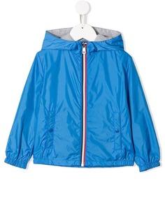 Moncler Kids куртка-бомбер с капюшоном