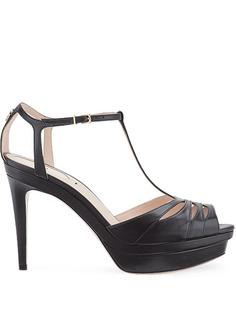 Fendi босоножки с Т-образным ремешком на каблуке