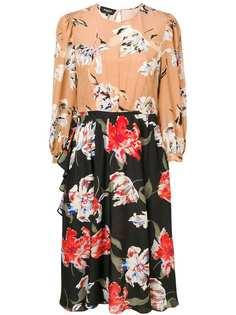 Rochas двухцветное платье