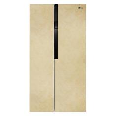 Холодильник LG GC-B247JEUV, двухкамерный, бежевый