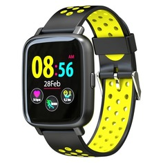 "Смарт-часы JET Sport SW-5, 52мм, 1.44"", черный / желтый [sw-5 yellow]"