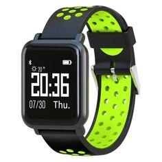 "Смарт-часы JET Sport SW-4, 46мм, 0.96"", черный / зеленый [sw-4 green]"