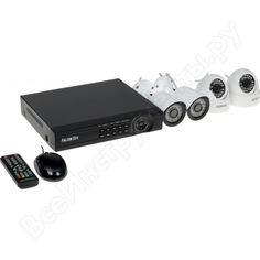 Комплект видеонаблюдения 4 канальный + 4 камеры falcon eye fe-104mhd kit офис