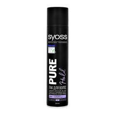 Лак для волос SYOSS PURE без отдушек и силиконов сильной фиксации 300 мл