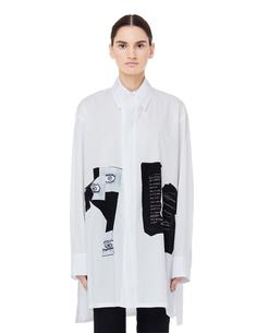 Белая хлопковая блузка Yohji Yamamoto
