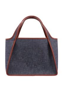 Синяя текстильная сумка Stella Mc Cartney