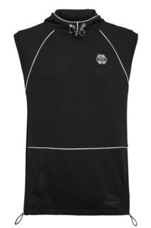 Черная спортивная жилетка с отделкой Philipp Plein