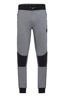 Серые брюки с контрастной отделкой Philipp Plein