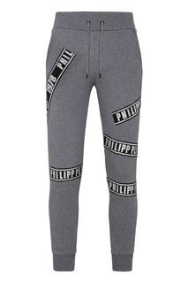 Спортивные серые брюки с отделкой Philipp Plein