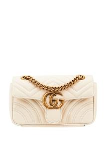Стеганая мини-сумка GG Marmont Gucci