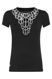 Черная футболка с отделкой Philipp Plein