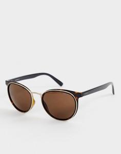 Круглые черепаховые солнцезащитные очки Esprit - Коричневый