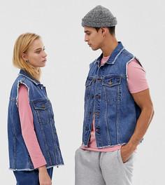 Синий джинсовый жилет COLLUSION Unisex - Синий