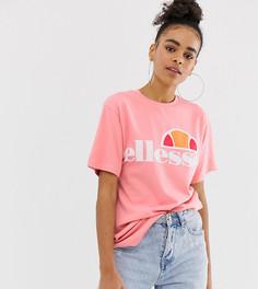 Футболка бойфренда с логотипом на груди Ellesse - Розовый