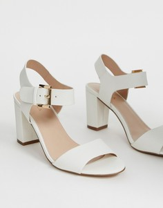 Босоножки на блочном каблуке Carvela - Белый