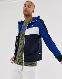Синяя куртка на молнии G-Star Setscale - Синий