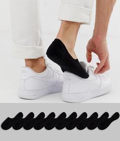 10 пар черных невидимых носков ASOS DESIGN - Черный
