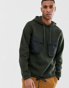 Худи с капюшоном в стиле милитари Jack & Jones Core - Зеленый