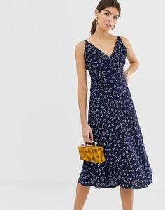Платье миди с цветочным принтом Finders Keepers - Синий