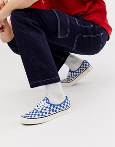 Синие кеды в клетку Vans Authentic - Синий