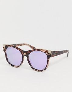 Черепаховые солнцезащитные очки кошачий глаз с золотистой отделкой Quay Australia Its My Way - Коричневый